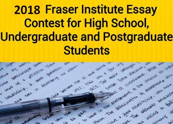 Fraser Institute Student Essay Contest