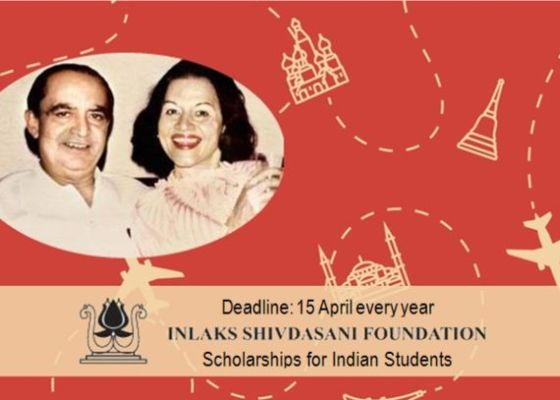 Inlaks Shivdasani Foundation Scholarships for Indian Students