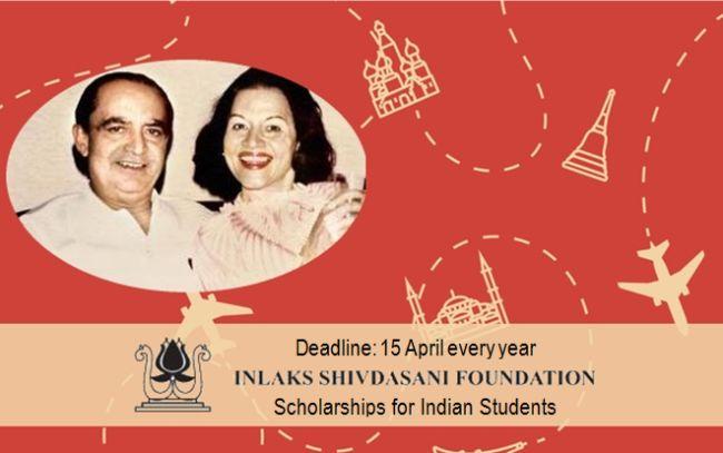 Inlaks Shivdasani Foundation Scholarships for Indian Students