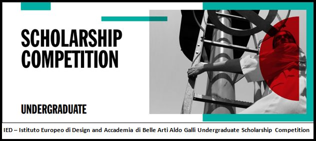 Full and Partial IED Undergraduate Scholarship Competition for Worldwide Students inItaly