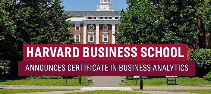 Business Analytics Certificate Courses Online by Harvard Business School