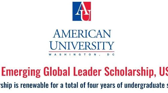 AU Emerging Global Leader Scholarship for International Students in the USA