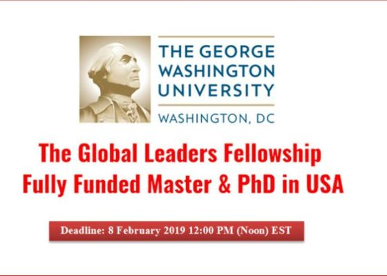 Global Leaders Fellowship at George Washington University in the USA