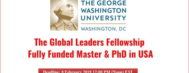 Global Leaders Fellowship at George Washington University in the USA