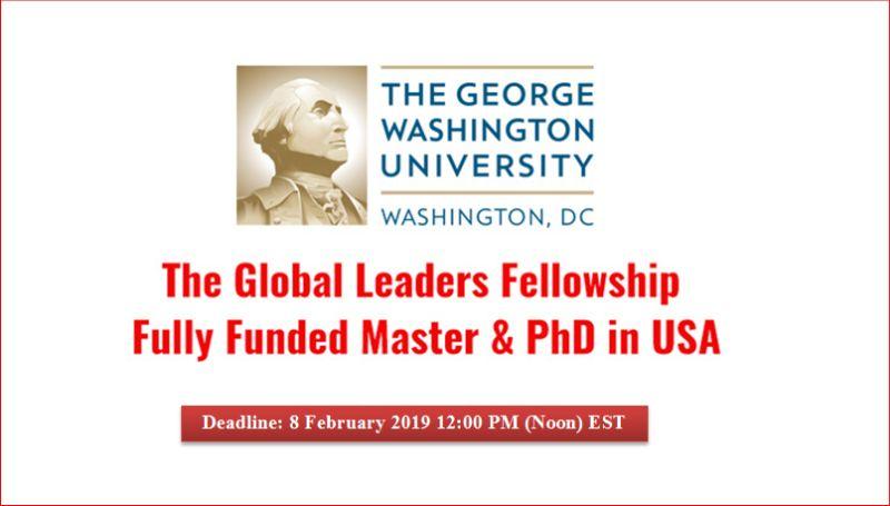 Global Leaders Fellowship at George Washington University in theUSA