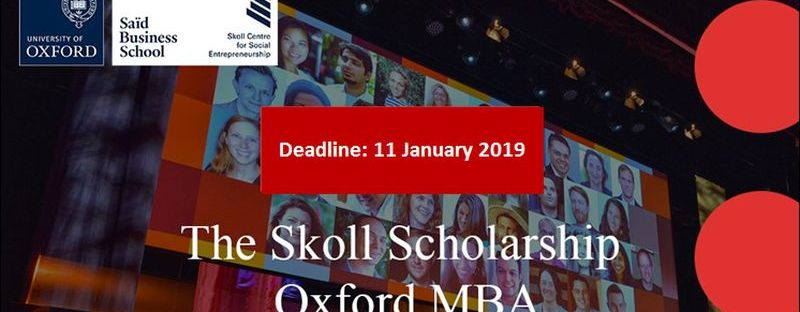 The Skoll Scholarship 2019