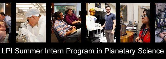LPI Summer Intern Program in Planetary Science