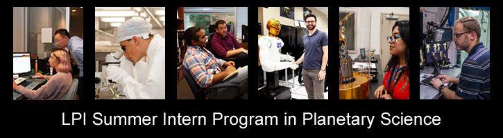LPI Summer Intern Program in PlanetaryScience
