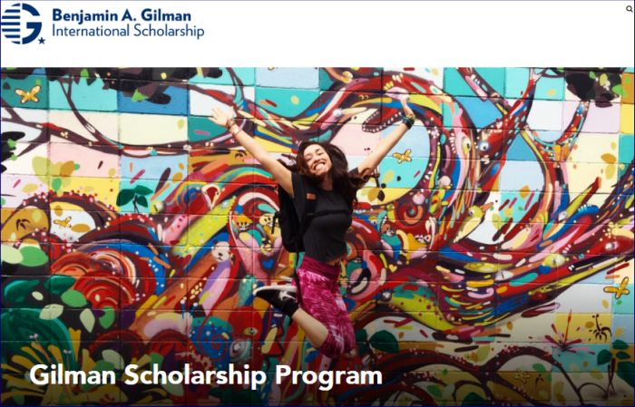 Benjamin A. Gilman International Scholarship for U.S. Undergraduates to Study Abroad