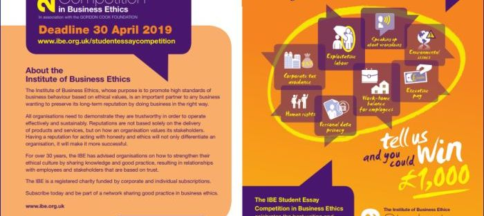 IBE Student Essay Competition for International Students