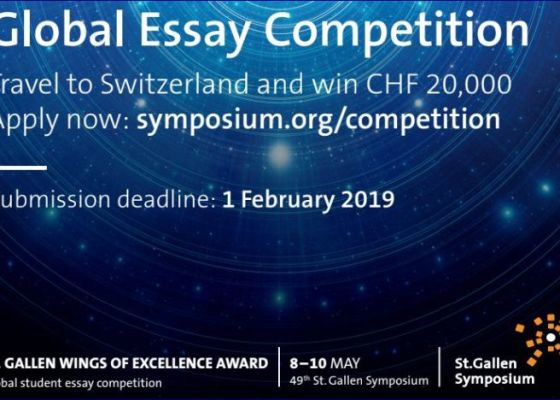 St. Gallen Symposium Global student Competition in Switzerland