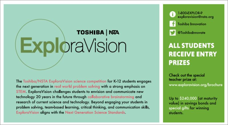 Toshiba-NSTA ExploraVision Student Science Competition