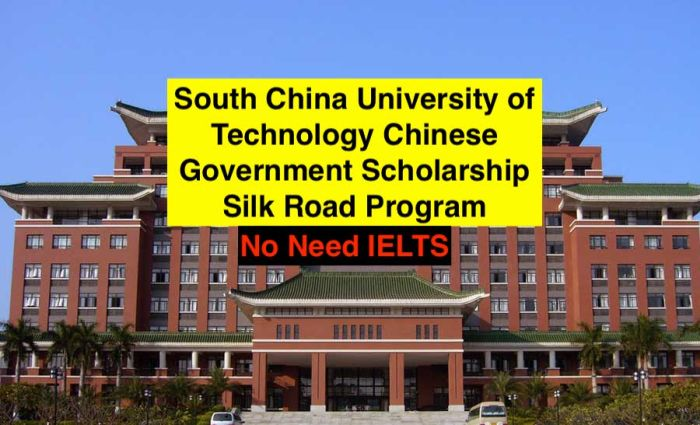 Chinese Government Scholarship for Chinese Unviersity Program and Silk Road Program
