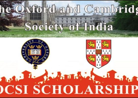 Oxford and Cambridge Society of India Scholarships to Study in UK