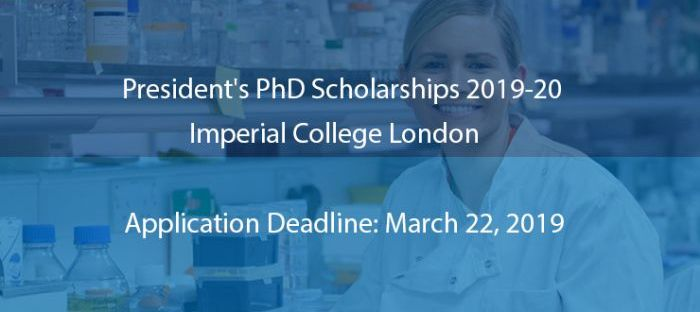 Imperial College London President's PhD Scholarships for International Students, 2019
