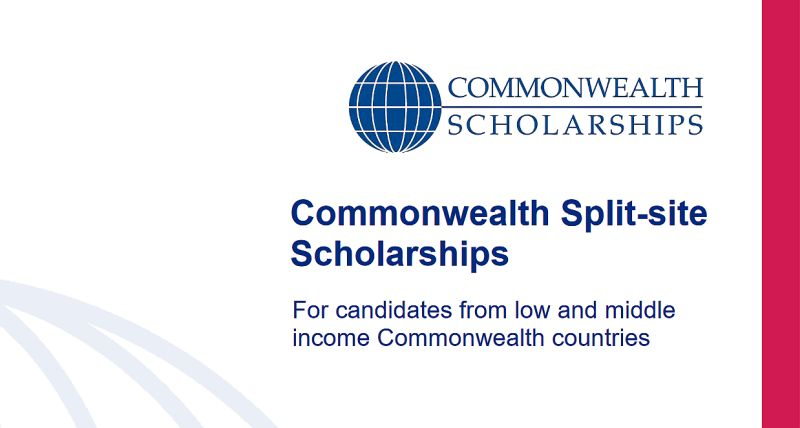 Commonwealth Split-site Scholarships for Low and Middle-Income Countries, 2020