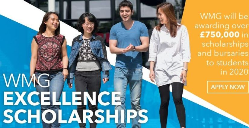 WMG Excellence Scholarships at University of Warwick,UK