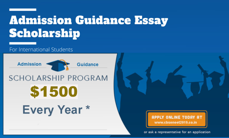Admission Guidance Essay Scholarship 2021